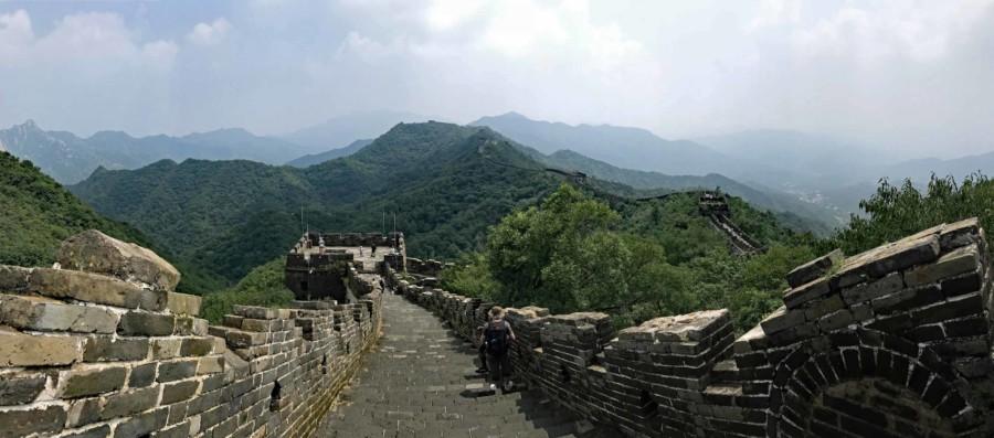 Chinesische Mauer bei Mutianyu Panorama