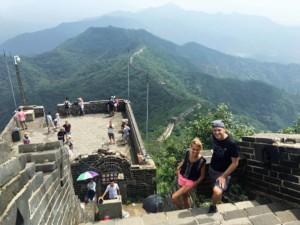 Chinesische Mauer Übergang von Jiankou zum Abschnitt Mutianyu