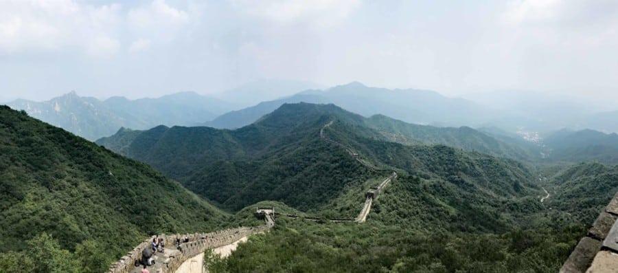 Chinesische Große Mauer Abschnitte Länge: Abschnitt Mutianyu Panorama