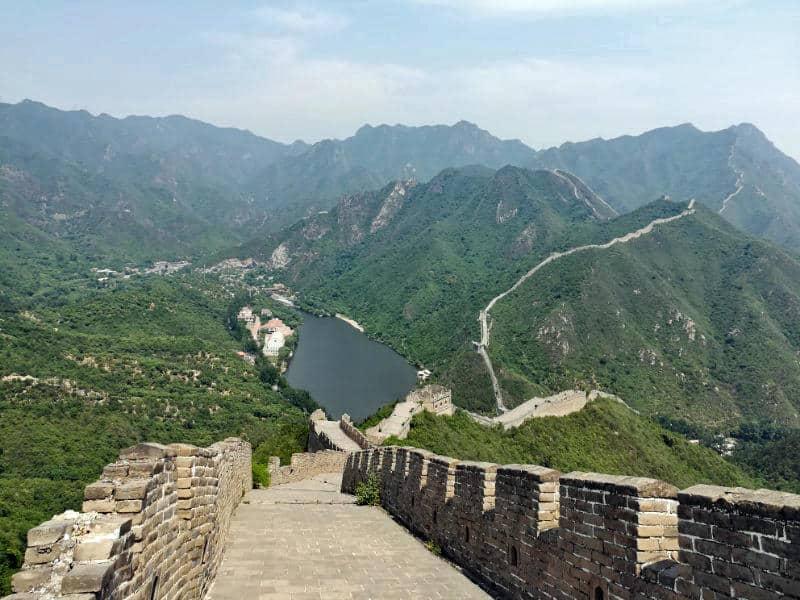 Große Mauer Peking Abschnitte Chinesische Mauer Länge: Abschnitt Huanghuacheng mit Stausee