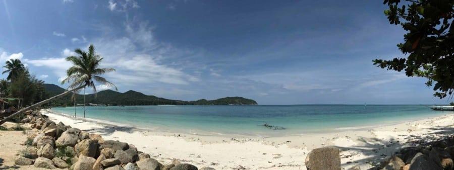 Strand Ao Chaloklum im Norden der Insel Panorama