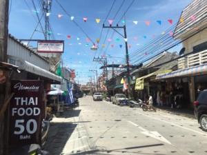 Thongsala Walking Street auf Koh Phangan