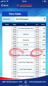 Lomprayah Fähre Abfahrtszeiten von Koh Phangan nach Koh Samui