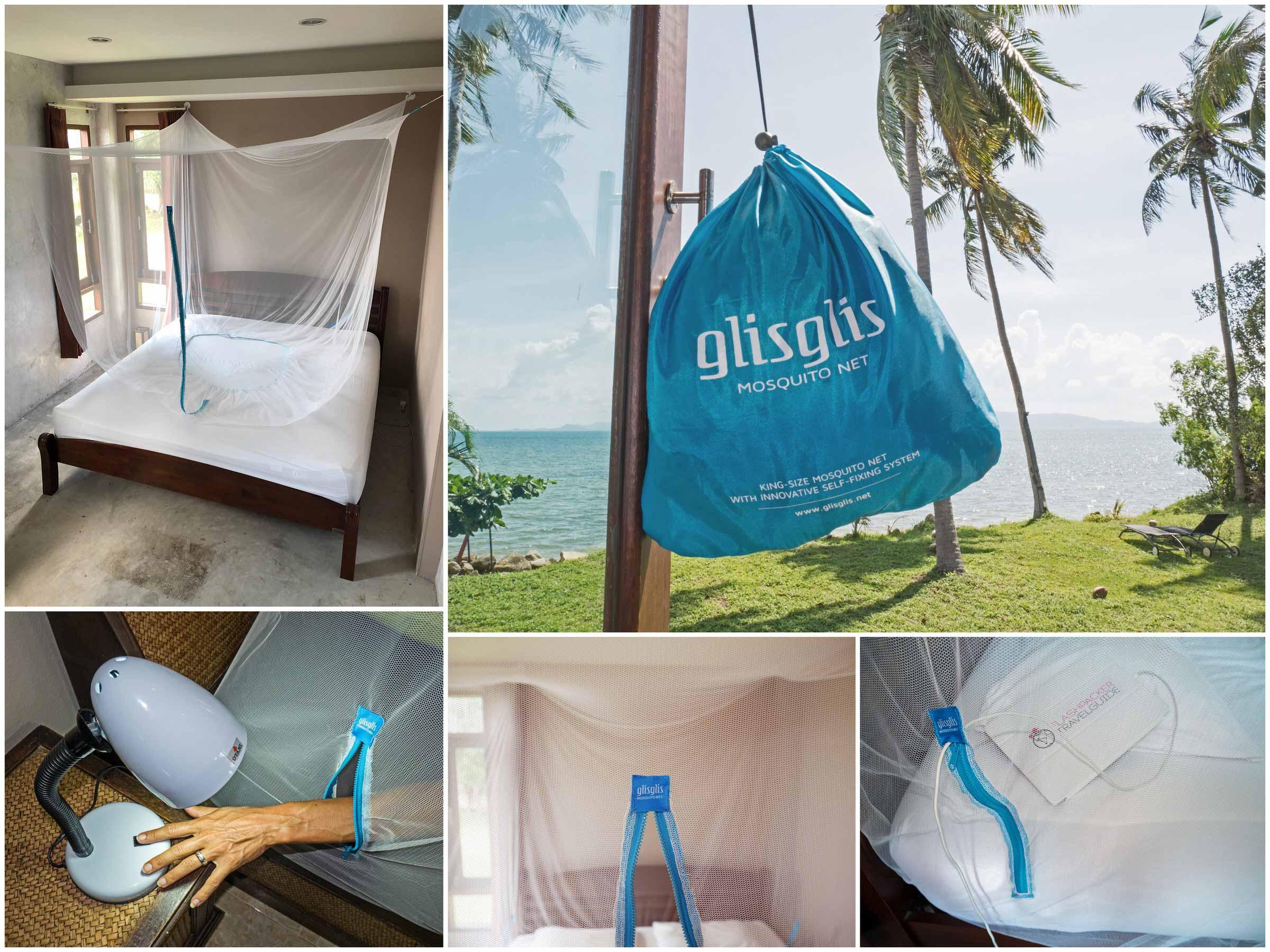 Das GlisGlis-Netz mit einen Reisverschluss-Eingang und praktischem Gummisaum zur Anbringung