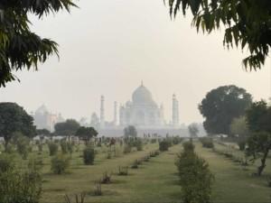 Highlights & Tipps: Blick auf das Taj Mahal vom Mahtab Bag, dem Botanischen Garten in Agra
