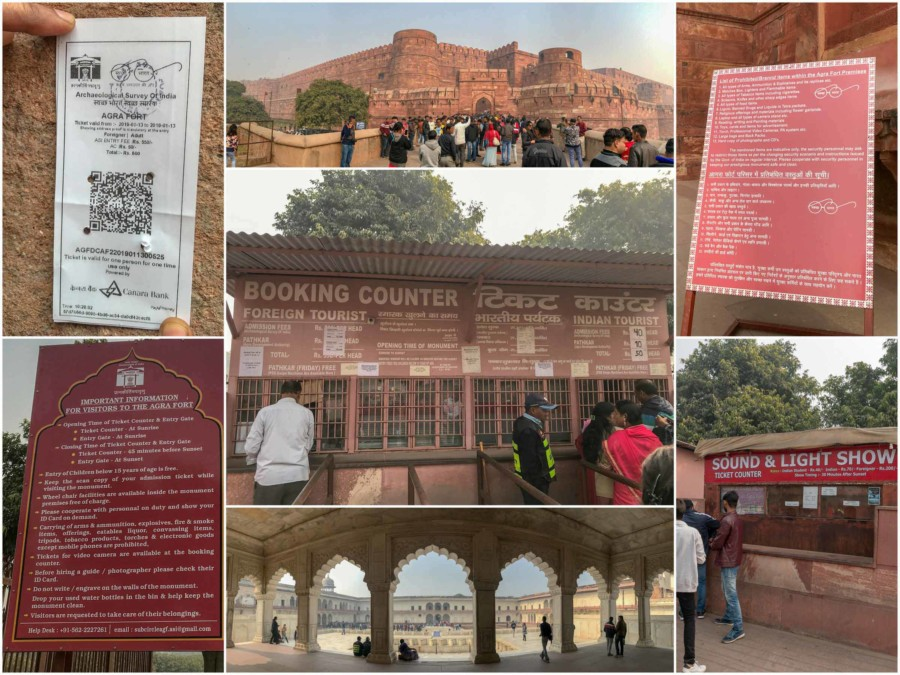 Sehenswuerdigkeiten, Highlights & Tipps in Agra: Eindrücke im Roten Fort