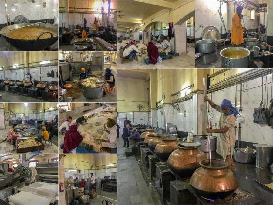 Unser Highlight und Tipp für Delhi: Eindrücke der Großküche im Gurudwara Bangla Sahib Siq-Tempel