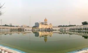 Gurudwara Bangla Sahib, der Siq-Tempel zum Sonnenuntergang