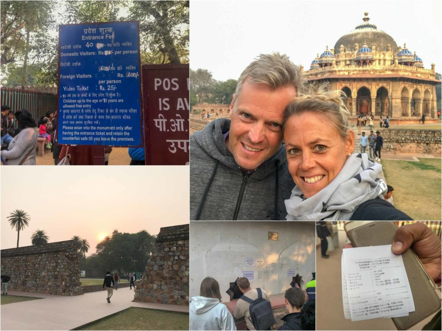 Sehenswürdigkeiten & Tipps: Eindrücke des Humayun Mausoleum in Delhi