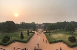 Humayun Mausoleum zum Sonnenuntergang