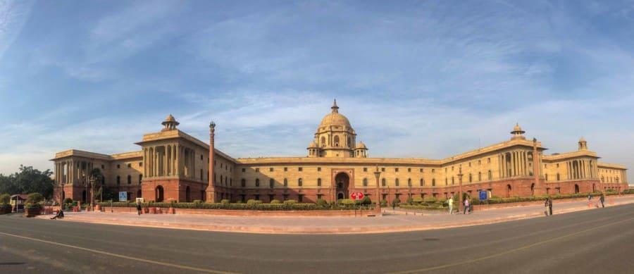 Parlamentsgebäude im Stadtteil Neu-Delhi