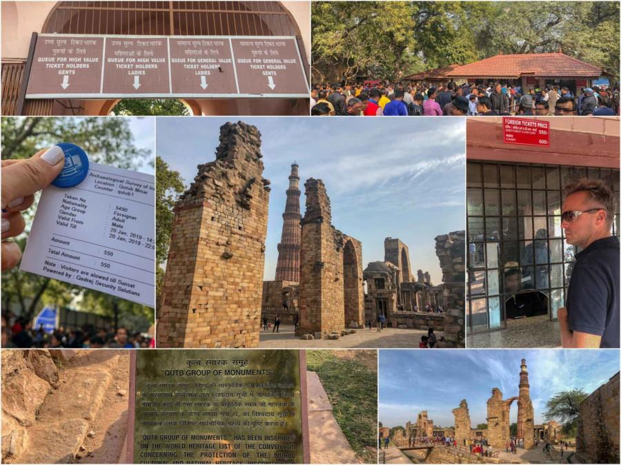 Eindrücke im archäologischen Park Qutb Minar