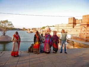 Pilger im heiligen Dholpur