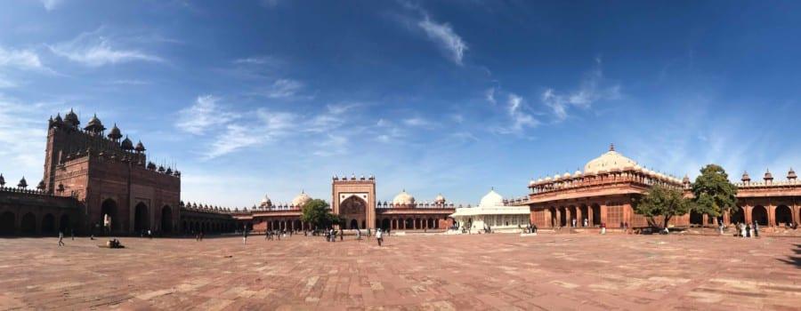 Panorama in der verlassenen Geisterstadt Fatehpur Sikri