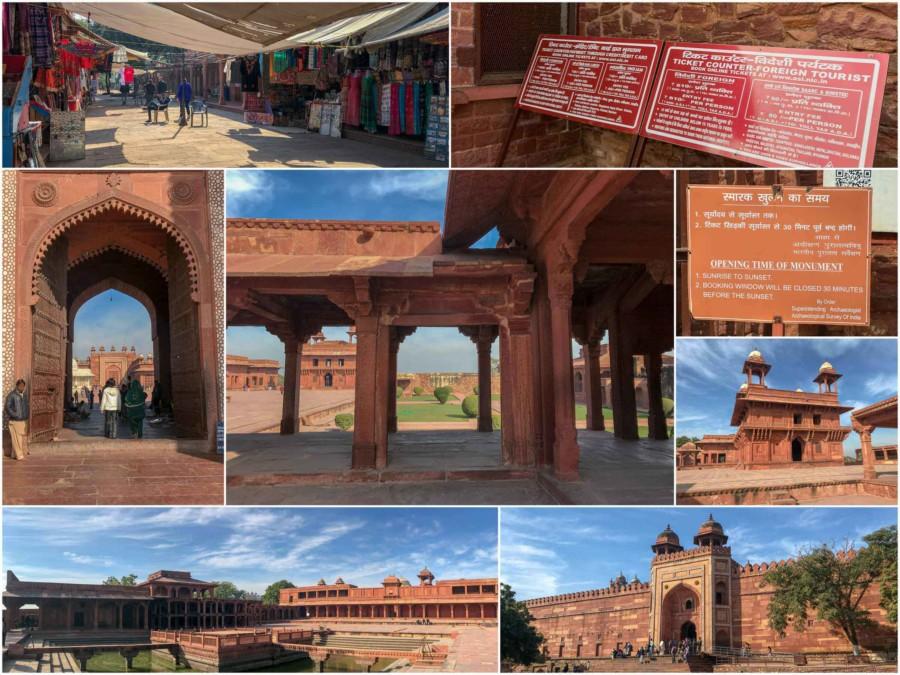 Eindrücke der Geisterstadt Fatehpur Sikri in Indien