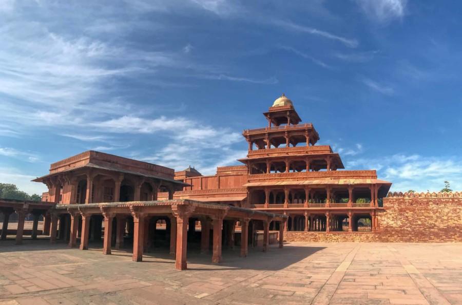 Geisterstadt Fatehpur Sikri Indien: Der fünfstöckige Palast Panch Mahal
