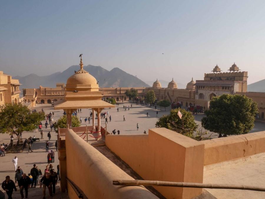 Einer der einer der schönsten Paläste in Rajasthan: das Amber Fort
