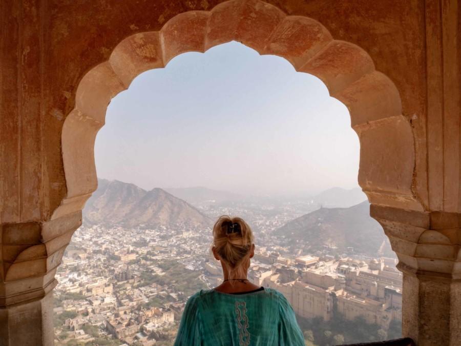 Panorama vom Jaigarh Fort auf das Amber Fort