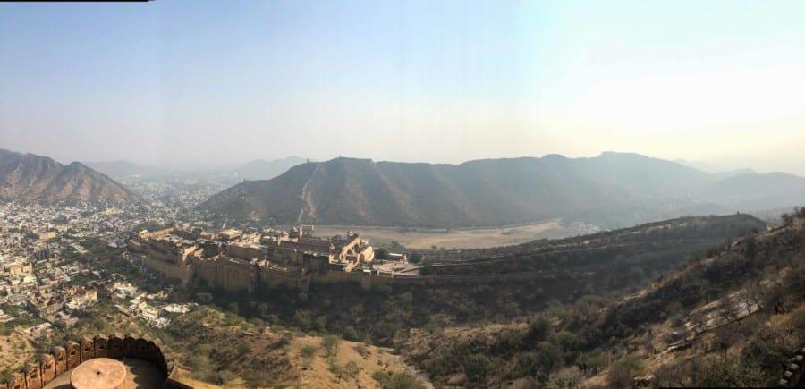 Panorama vom Nahargarh Fort auf das Amber Fort