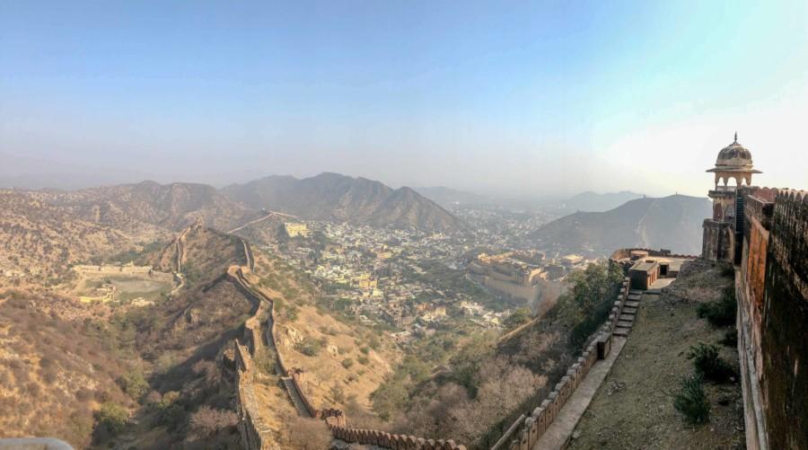 Panorama auf Amber und Jaipur vom Jaigarh Fort