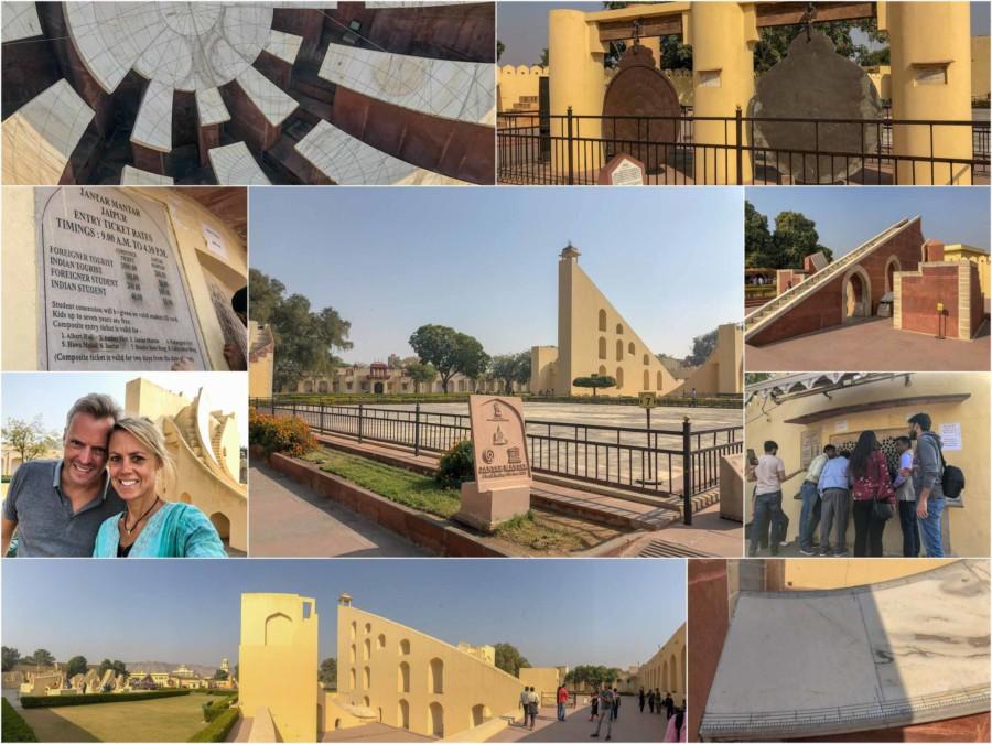 Eindrücke des größten steinerne Observatorium Jantar Mantar und UNESCO-Weltkulturerbe