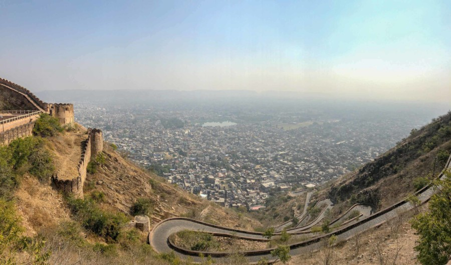 Panorama vom Nahargarh Fort auf Jaipur
