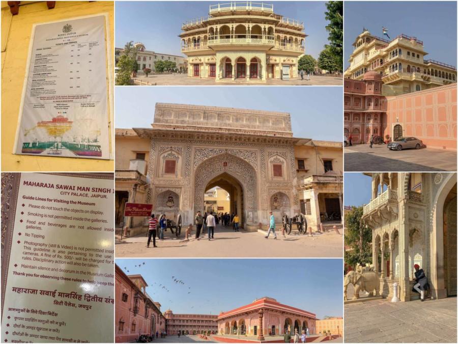 Sehenswürdigkeiten & Tipps: Eindrücke des Stadtpalast in Jaipur