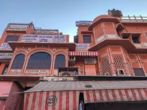 Unser Tipp zum besten Foto des Palast der Winde in Jaipur: die Dachterrasse des Wind View Cafe