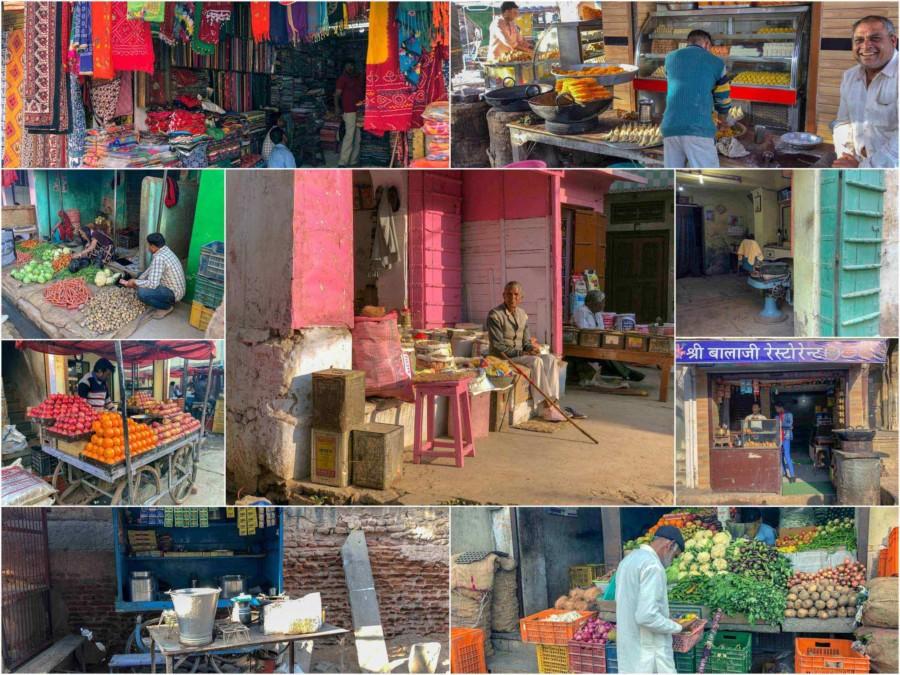 Inmitten der Havelis: Eindrücke des Bazars Nawalgarh