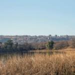 Das Ranthambore Fort am Horizont aus der Distanz vom Nationalpark betrachtet.