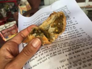 Samosa mit Kartoffelfüllung, unbedingt probieren