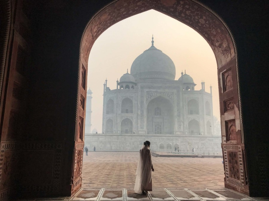 Die Magie des Weltwunders Taj Mahal ist deutlich zu spüren