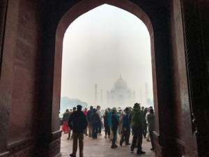 Der erste Blick auf das magische Taj Mahal