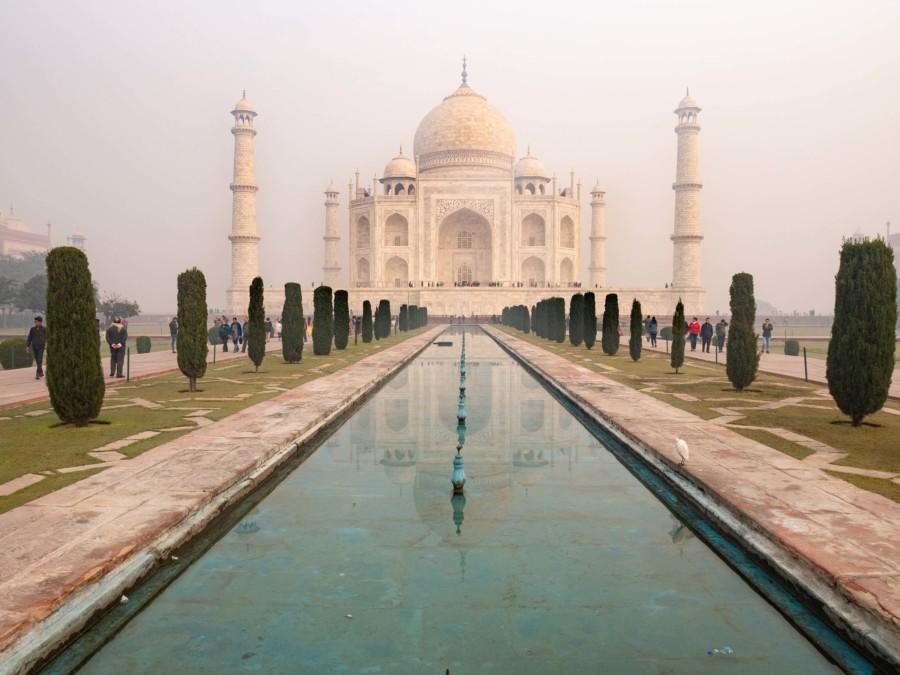 Indien Weltwunder Tipps: Sonnenaufgang im Taj Mahal