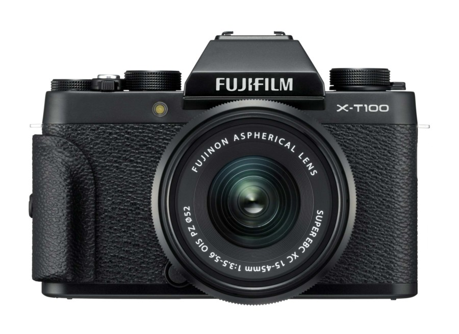 Empfehlung: Beste Kamera für Deine Reise, die Systemkamera X-T100_Black_Front_Grip_XC15-45mmB
