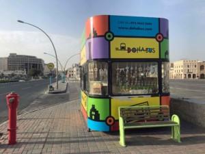 Sehenswürdigkeiten und Highlights in Doha: Station des Hop on Hop off Bus