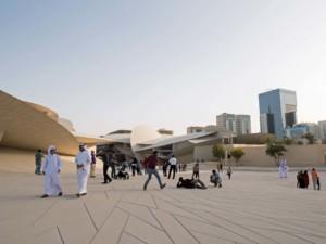 Posen fürs perfekte Foto im National Museum in Doha