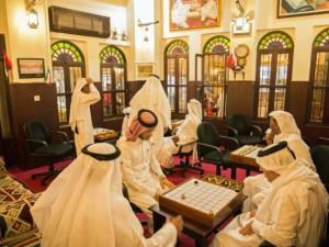 Highlights gib es im Souq Waqif viele, hier der Besuch des Männertreff