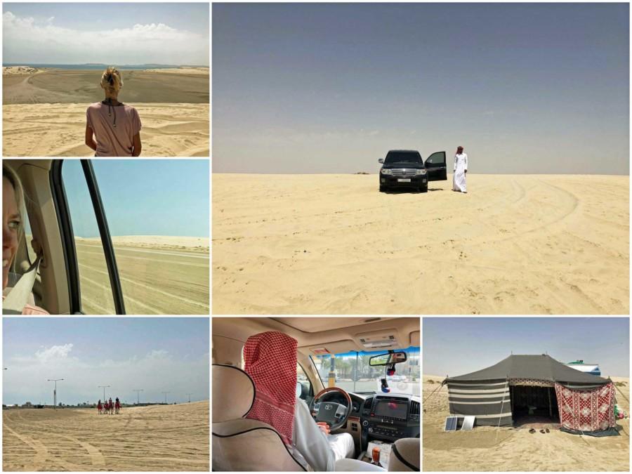 Tour durch die Wüste von Katar im Geländewagen von Ahmad unserem Guide