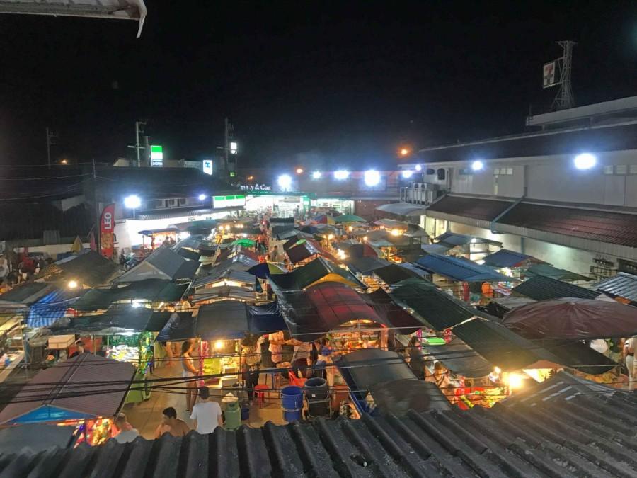 Phantip Food Market in Thongsala, Koh-Phangan