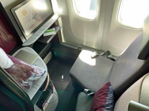 Die luxuriöse Qsuite in der Business Class von Qatar Airways