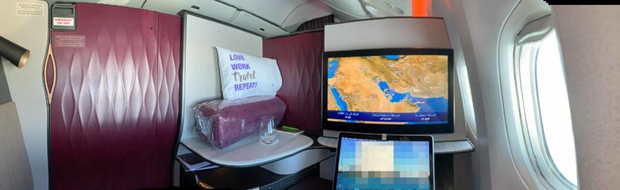 Qatar Airways Business Class Qsuite Panorama