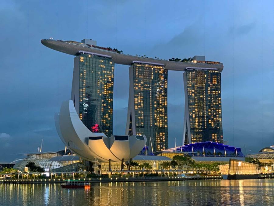 Über 300 Euro kostet die Übernachtung im Marina Bay Sands Hotel in Singapur