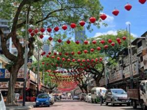 Die berühmte Street Food Straße Jalan Alor in Bukit Bintang