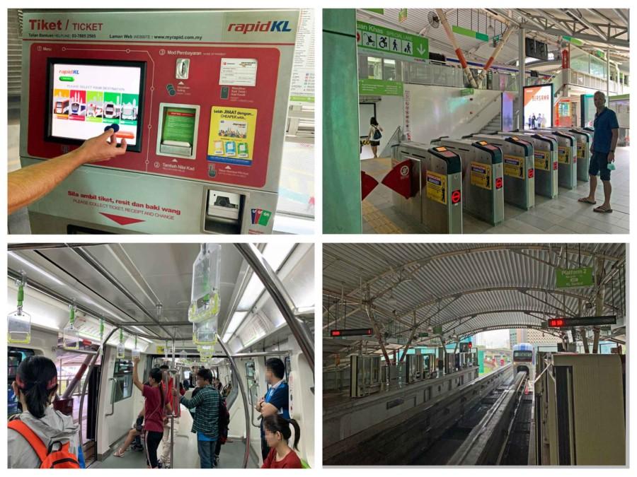 Anreise und öffentliche Verkehrsmittel in Kuala Lumpur: Metro fahren in Kuala Lumpur