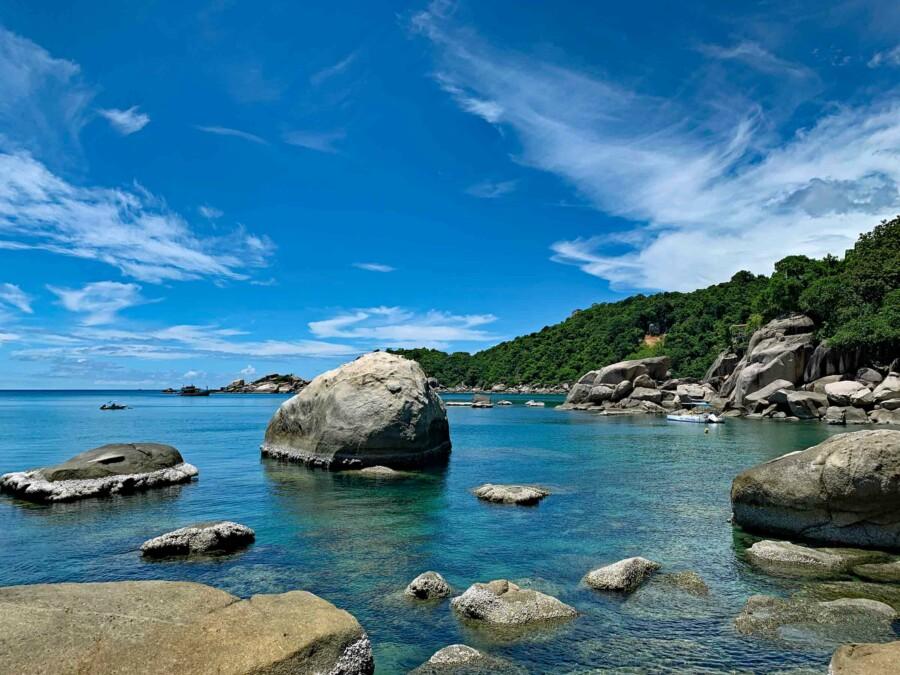Empfehlung, Sehenswürdigkeiten, Strände, Schnorcheln & Tipps: Hing Wong Bay im Osten von Koh Tao, zum Schnorcheln ein absolutes Highlight