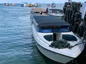 In knapp einer Stunde kommst Du mit dem Speed Boot von Lomprayah von Koh Phangan nach Koh Tao