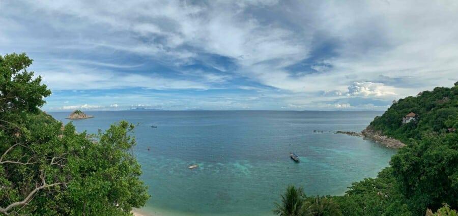 Panorama aus dem Zimmer des Sai Daeng Resort auf Koh Tao