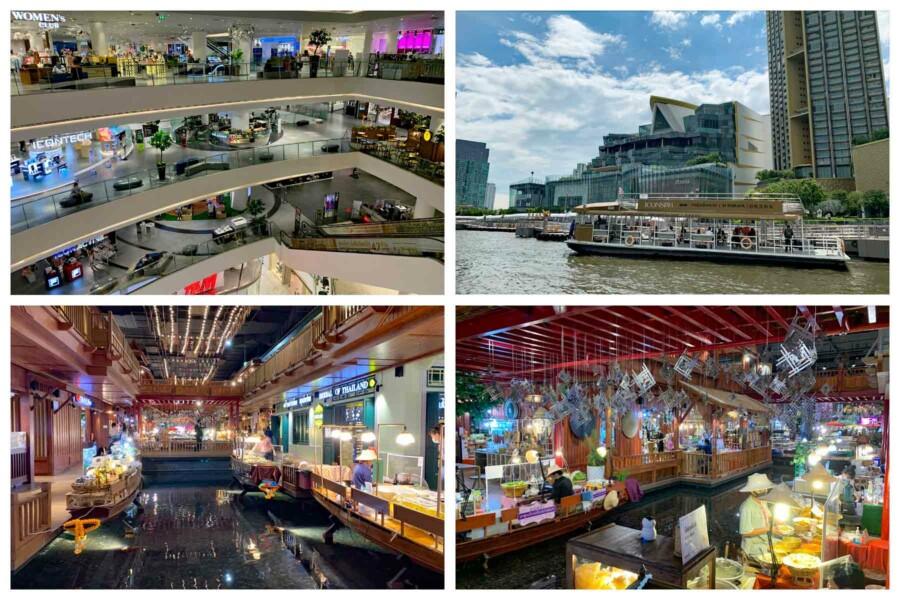Eines der größten Shopping Center Asiens: Iconsiam in Bangkok
