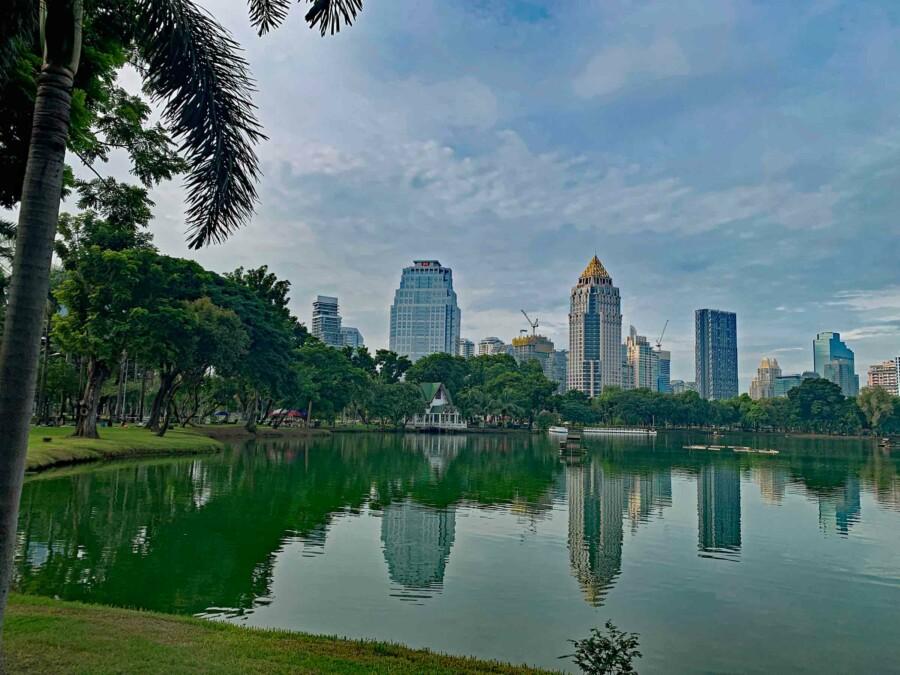 Lumphini Park, top Sehenswürdigkeit und grüne Oase von Bangkok